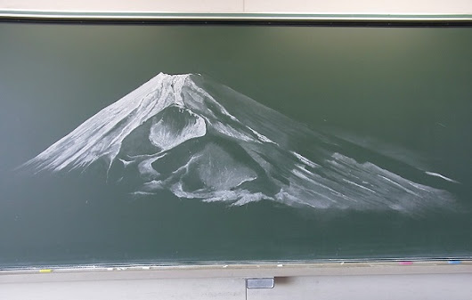 Japanese Students Create Impressive Chalkboard Murals For Blackboard Art Contest - DesignTAXI.com