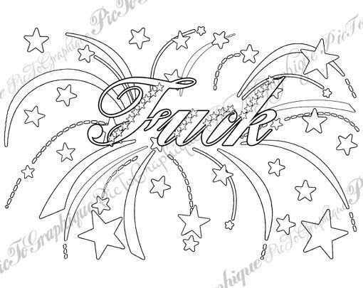 30 Adult Coloring Pages Swear Words - Free Printable Coloring Pages