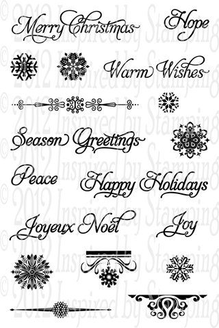 Inspired by Stamping Elegant Christmas Sentiments Stamp Set