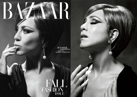 Jennifer Aniston As Barbra Streisand In Harper's Bazaar