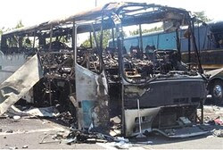Bus destroyed in Burgas attack