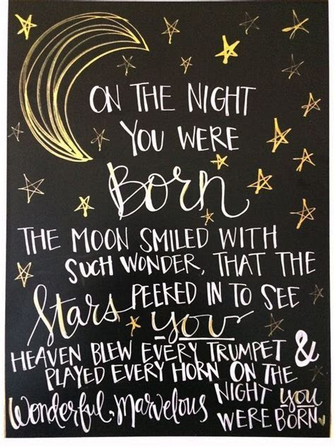 On the night you were born » Daily LifeQuotes   Birthday