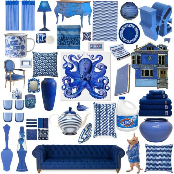 #Blue #home #interior #furnishings