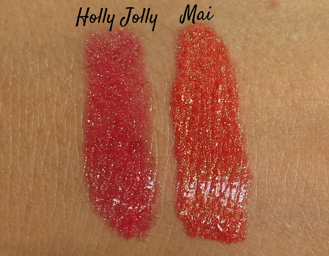 Darling Girl Cosmetics Holly Jolly vs Mai Holo Gloss