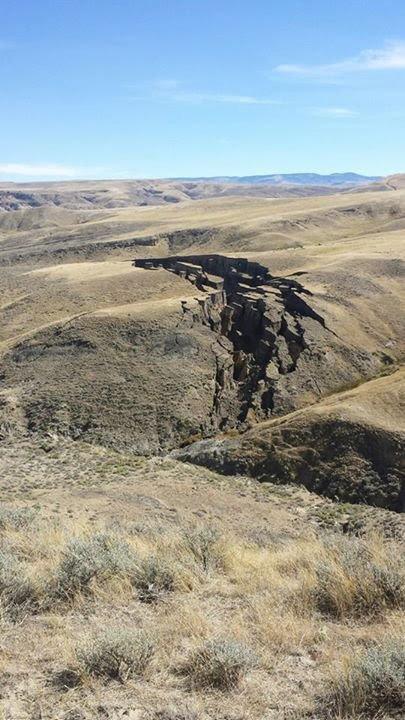 Rachadura enorme perto de Yellowstone