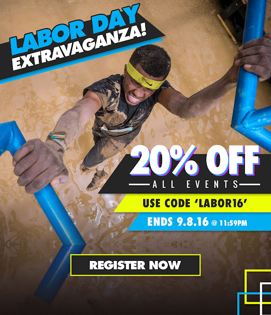 Labor Day Extravaganza! - 20% off Savage Race