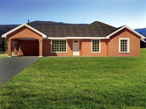 brick ranch home plan ks architectural designs