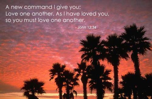 Inspirational illustration of John 13:34