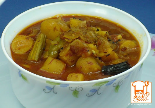 Chilakada Dumpala Pulusu | Sweet Potato Stew | Shakarkand Curry - Step By Step Recipe With Photos | MommyFood.Com