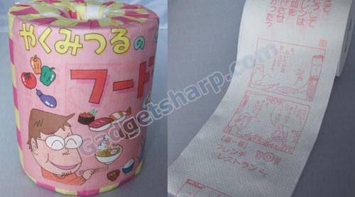 Japanese manga toilet roll