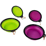 Collapsible Dog Bowls - 4-Pack Silicone Foldable Dog Bowls, Pet Bowels, Portable Dog Bowl Dish, for Travel, Outdoor, Camping, for Cat, Dog, Pets Water