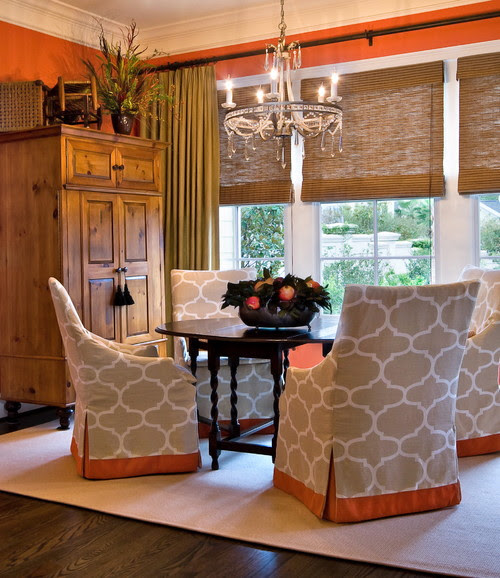 Lorraine Vale traditional dining room paint tones matching wood