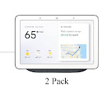 2 Pack Google Home Hub - Smart Home Controller with Assistant GA00515-US Charcoal GoogleHome-Hub-Char-2PK