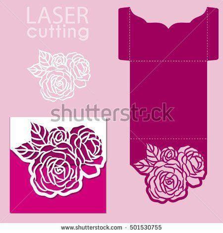 stock vector vector die laser cut envelope template with