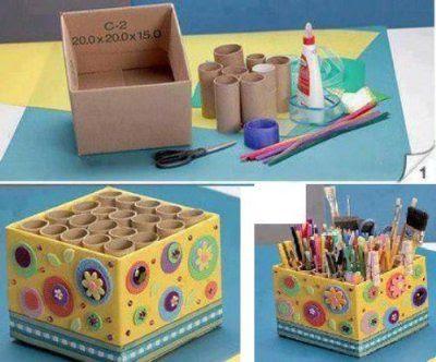 Tip: Reciclaje rollos de papel higienico