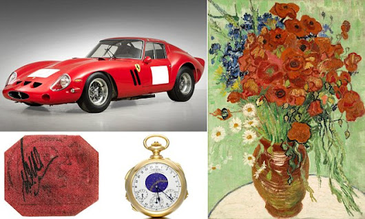 A £40m van Gogh, £15m Patek Philippe watch and a £5m stamp