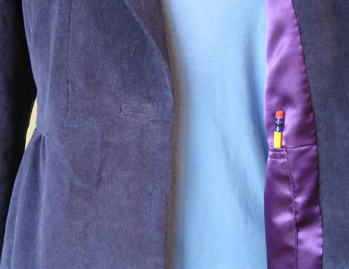 Blue cord buttonhole