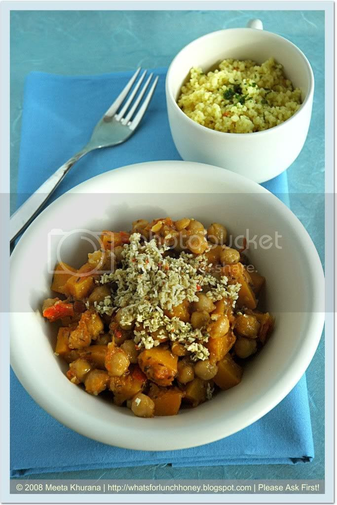 Chickpea Pumpkin Tajine (02) by MeetaK