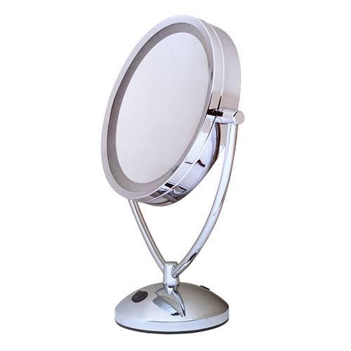 Floxite 7081 10v 1x 10x Magnifying Lighted Chrome Vanity Mirror