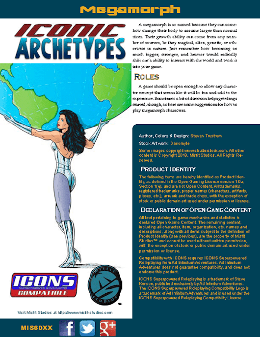 Iconic Archetypes: Megamorph for the ICONS Superpowered RPG