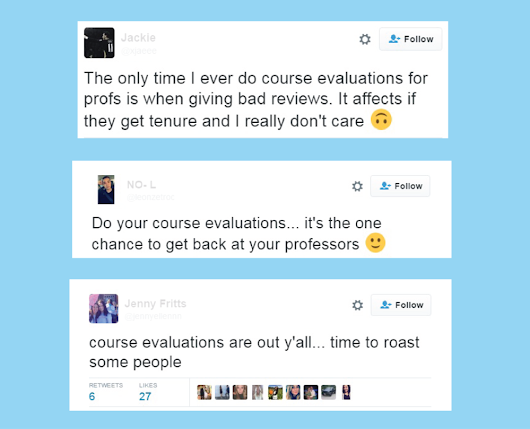 What to do About Course Evaluations
