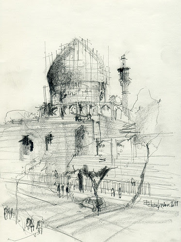 Chahar Bagh School- The dome by Behzad Bagheri