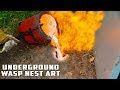 """Un """"youtuber"""" derrama aluminio fundido en un nido subterráneo de avispas"""