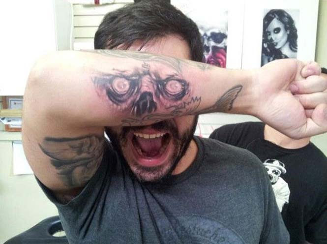 Δημιουργικά τατουάζ που αλληλεπιδρούν με το σώμα! (18)