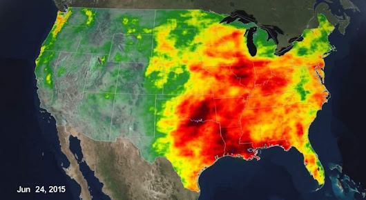 Rainfall accumulation on the United States- timelapse | wordlessTech