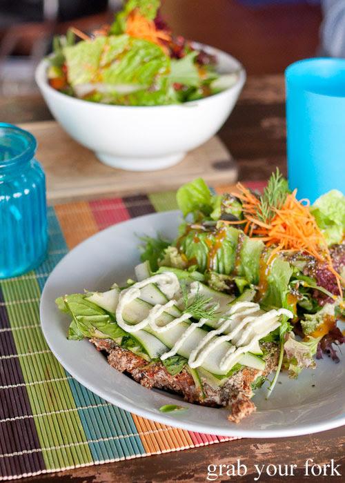 Raw vegan Sadhana lasagna at Sadhana Kitchen Enmore