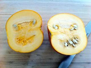 Pie Pumpkin, Halved
