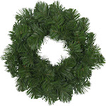 Deluxe Windsor Pine Artificial Christmas Wreath - 12-Inch, Unlit by Christmas Central