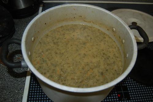 Sprout leaf, bacon and stilton soup Nov 11 2