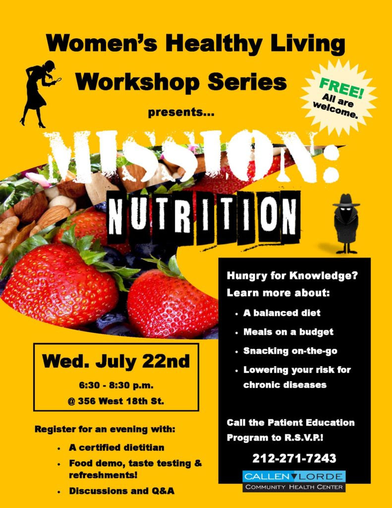Women's Healthy Living Workshop: Mission Nutrition ...