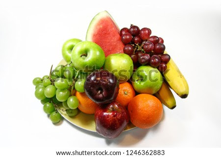 A variety of fresh fruit on one plate.