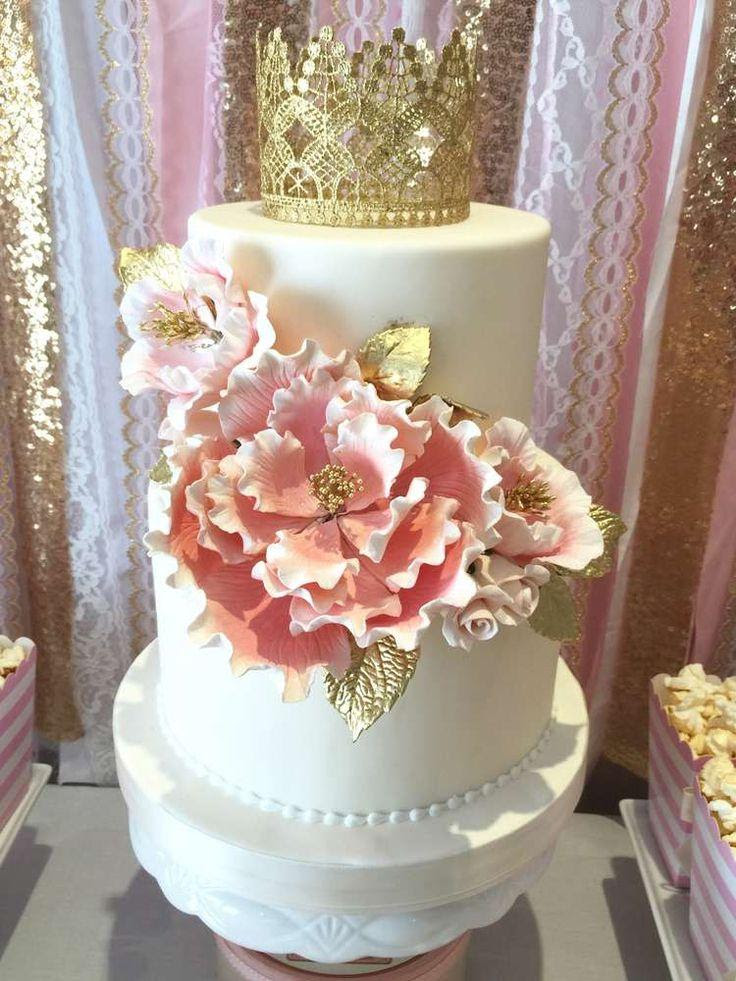 Wedding Theme Pink And Gold Birthday Party Ideas 2551339 Weddbook