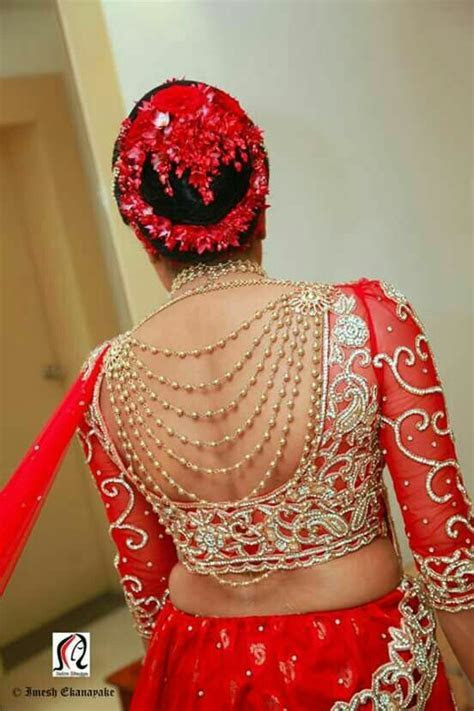 20 Latest blouse back designs for Bridal Sarees   Bling