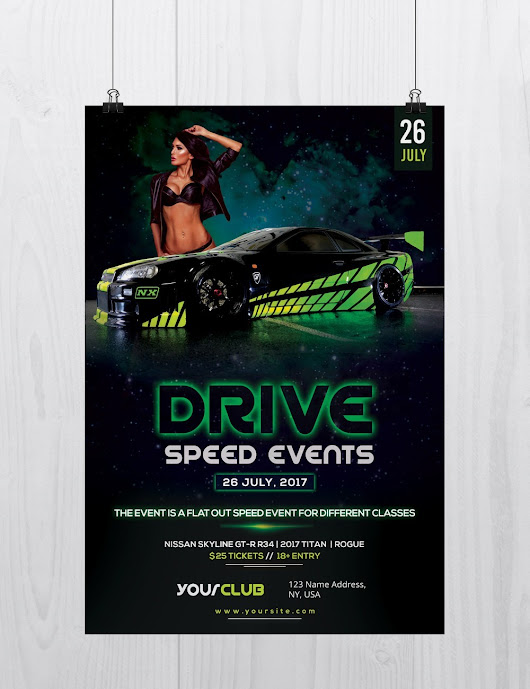 Drive: Speed Car Event - Free PSD Flyer Template - Stockpsd.net - Free PSD Flyers, Brochures and more