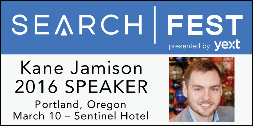 SearchFest 2016 Mini-Interview: Kane Jamison | SEMpdx