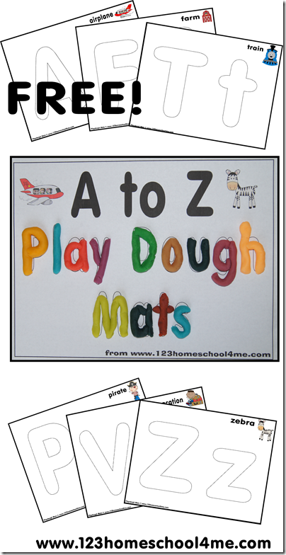 FREE Playdough Mats: Alphabet Letters from A to Z | Free ...
