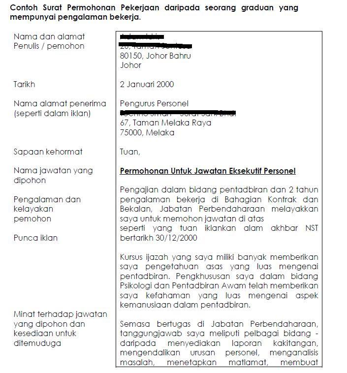 Contoh Surat Rasmi Rayuan Tindakan Tatatertib - Rasmi H