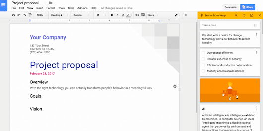 Google Keep agora integrado no Google Docs | Google Discovery