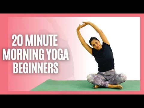 20 Min Morning Yoga Routine-Gentle Yoga to start your day #morningyoga