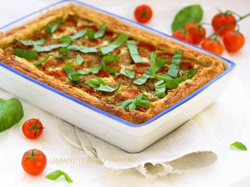 Tomato ricotta tart1