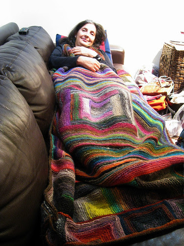 Noro couch throw