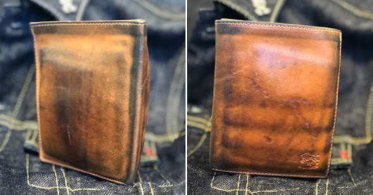 Il Bisonte 4x5 7-slot wallet (2.5 Years) - Fade of the Day