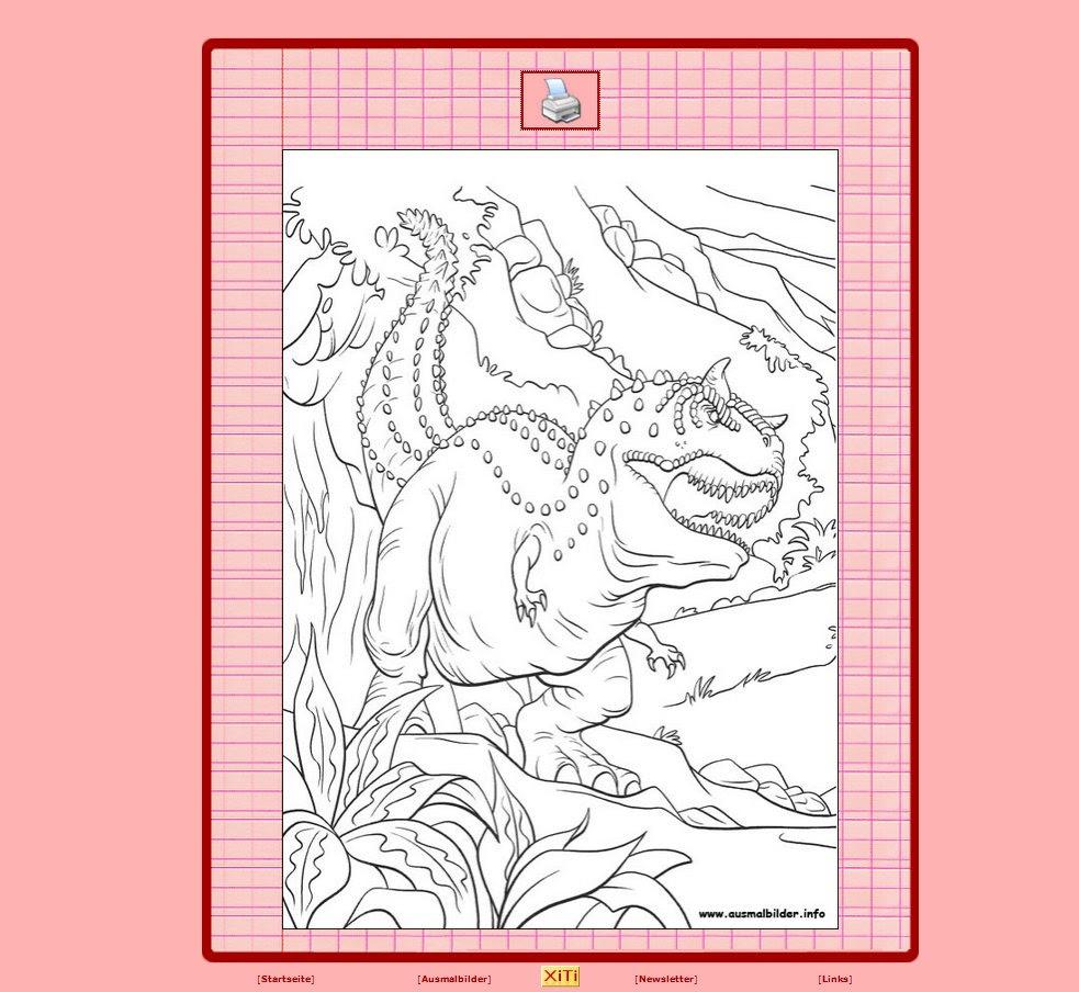 dinosaurier bilder zum ausdrucken farbig  allerbeste