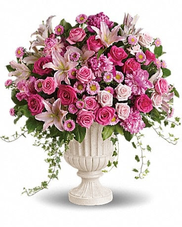 Passionate Pink Garden Arrangement In Liverpool Ny Noble S Flowers