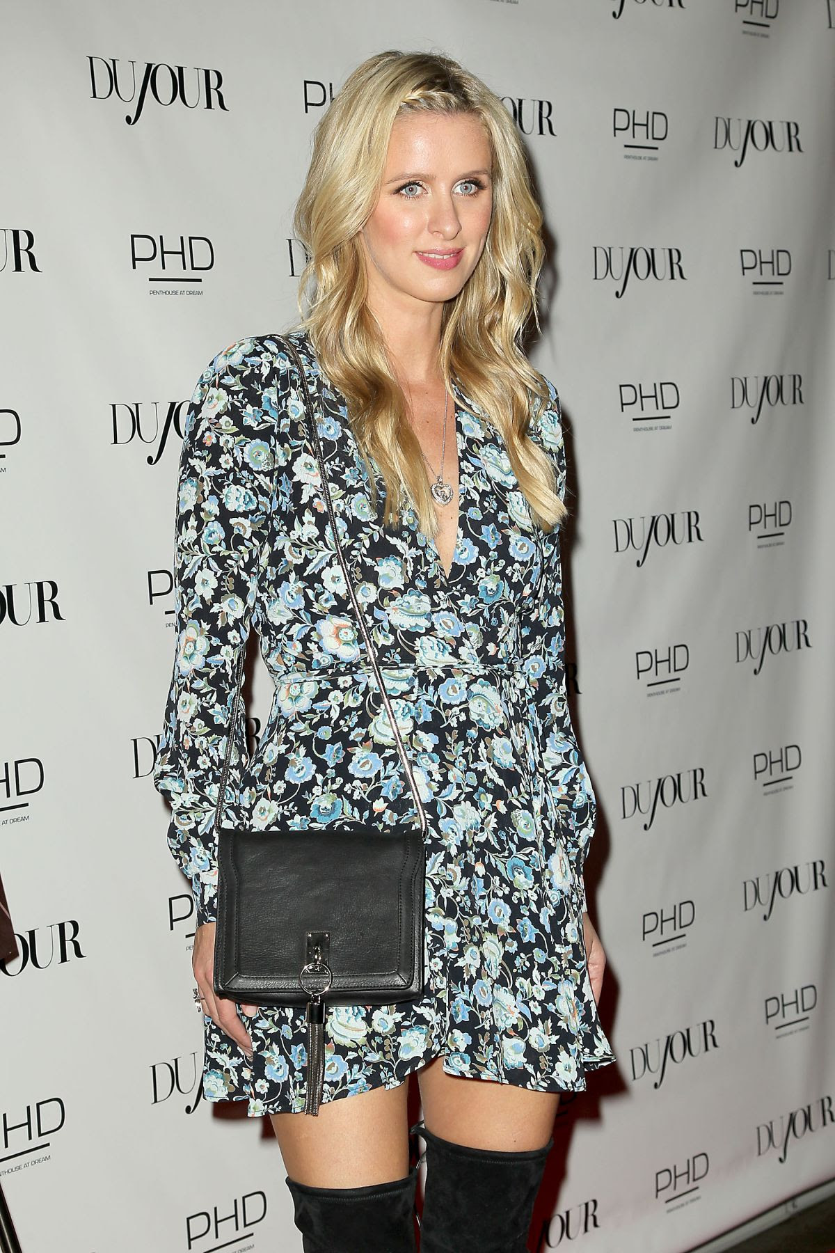 NICKY HILTON at Dujour Magazine's April Cover Celebration in New York