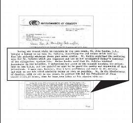 Extracto de una de las presuntas cartas de Madre Teresa